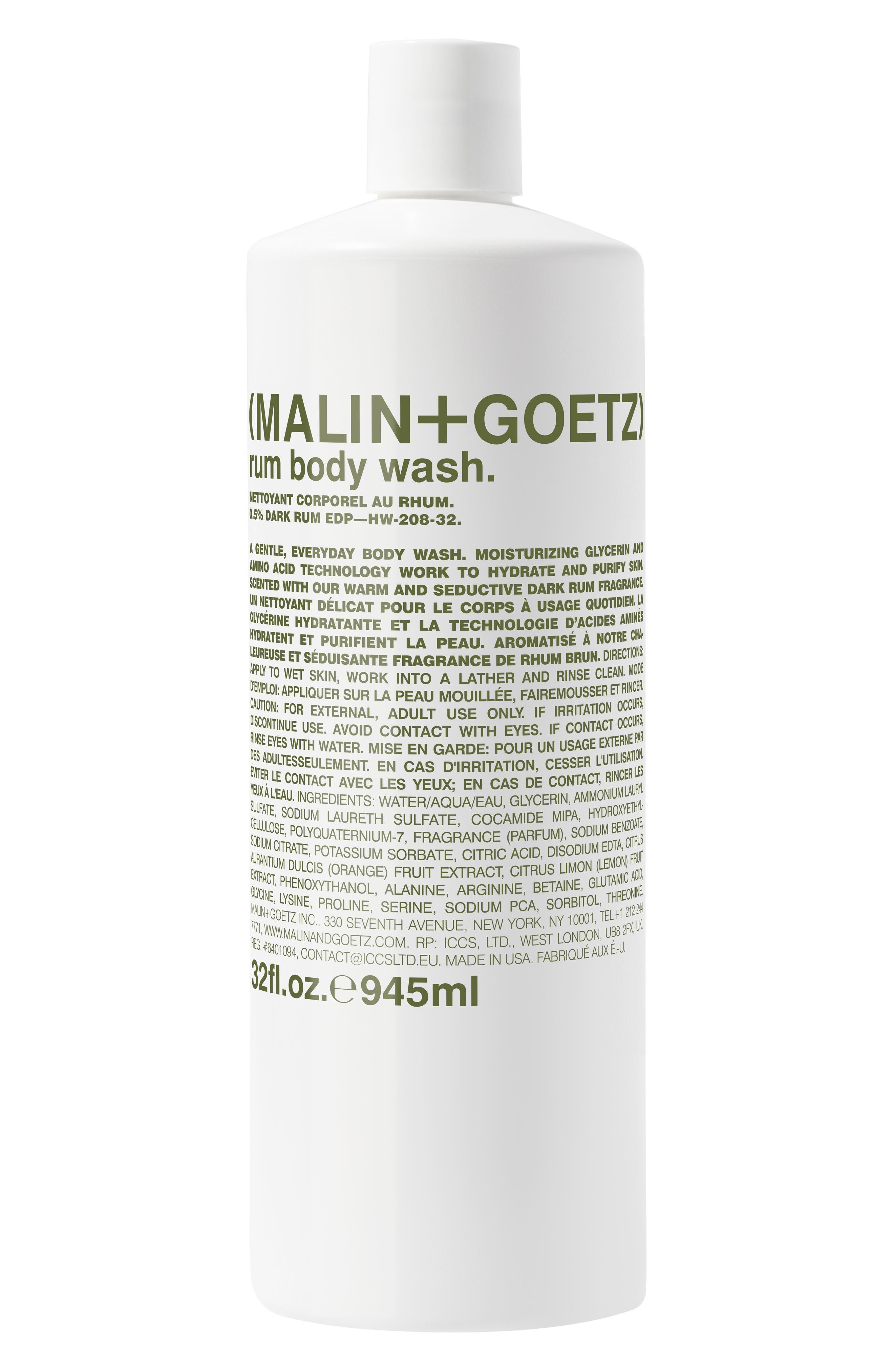 Malin+Goetz Jumbo Rum Body Wash-$72 Value