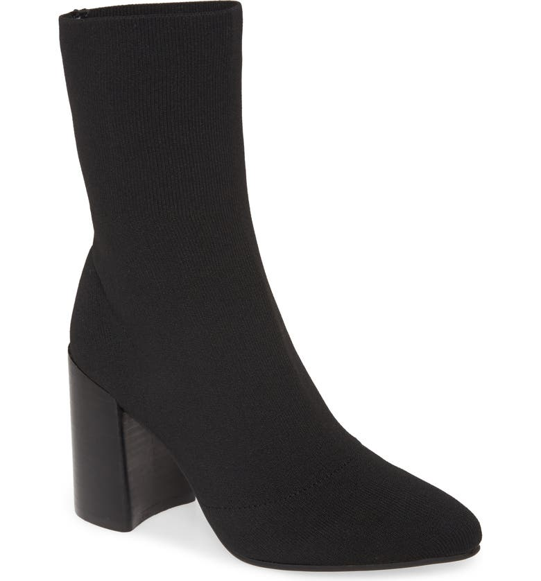 STEVE MADDEN Trent Knit Bootie, Main, color, BLACK