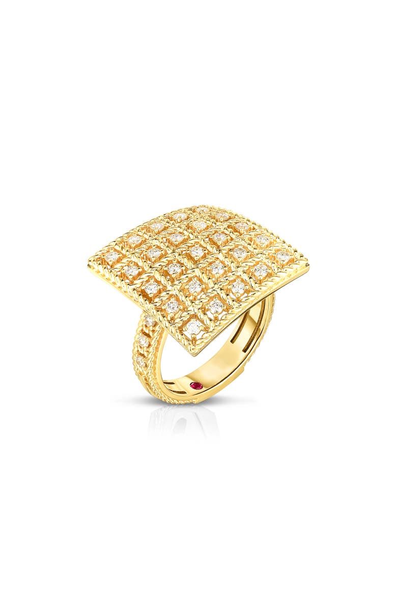 ROBERTO COIN Byzantine Barocco Diamond Ring, Main, color, YELLOW GOLD