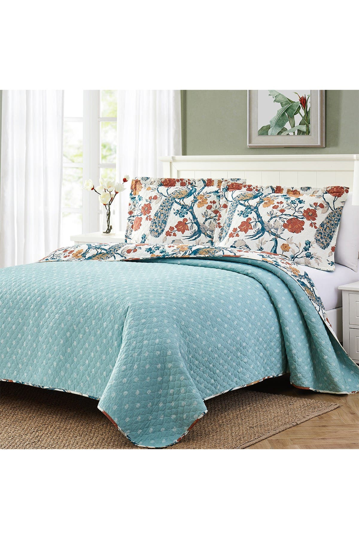 Image of Modern Threads 3-Piece Enzyme Washed Quilt Set Penelope - Queen