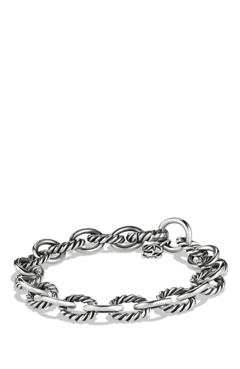 DAVID YURMAN 'Oval' Link Bracelet, Main, color, SILVER