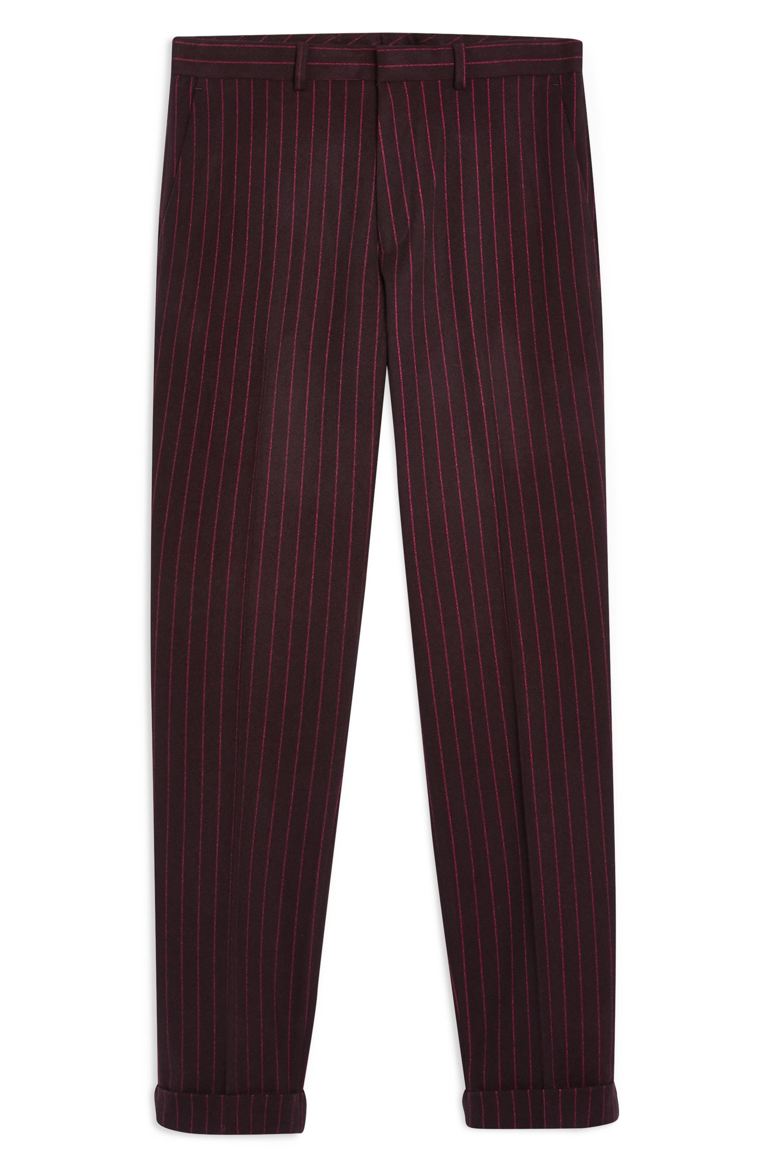 ,                             Rocky Slim Fit Pinstripe Trousers,                             Alternate thumbnail 5, color,                             NAVY BLUE