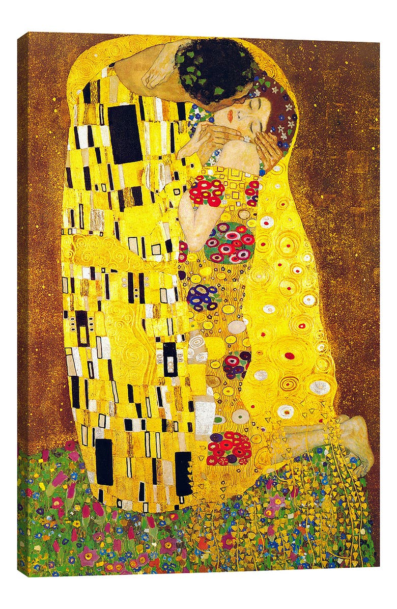 The Kiss By Gustav Klimt Giclee Print Canvas Art