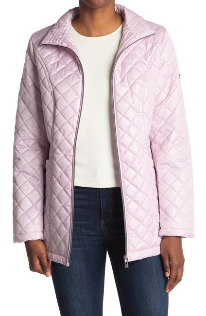Image of Via Spiga Stand Collar Quilted Jacket