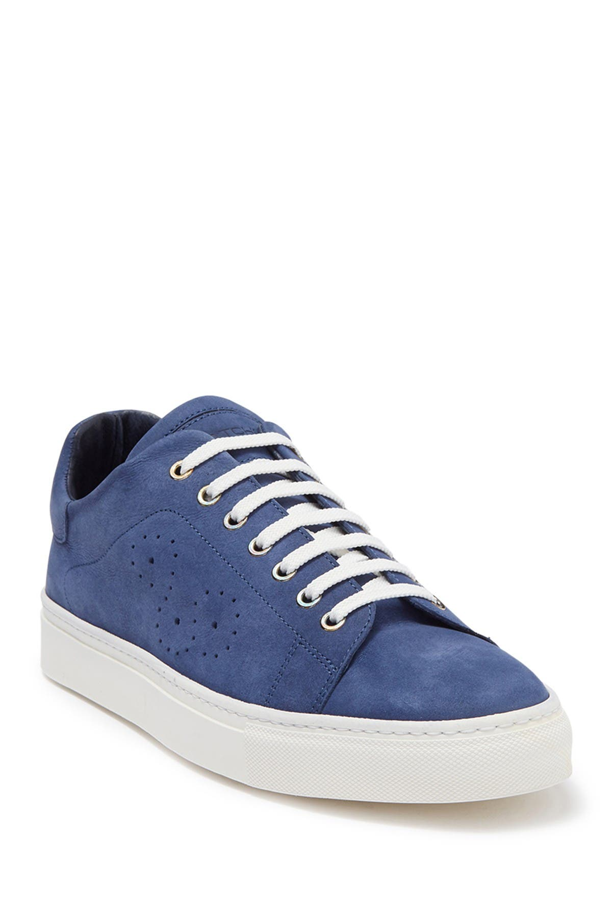Bugatchi | Solid Nubuck Leather Sneaker