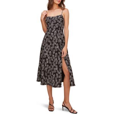 Astr The Label Keilani Sleeveless Midi Dress, Black
