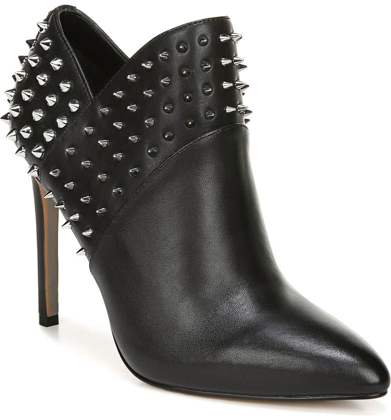 SAM EDELMAN Studded Wally Bootie, Main, color, BLACK