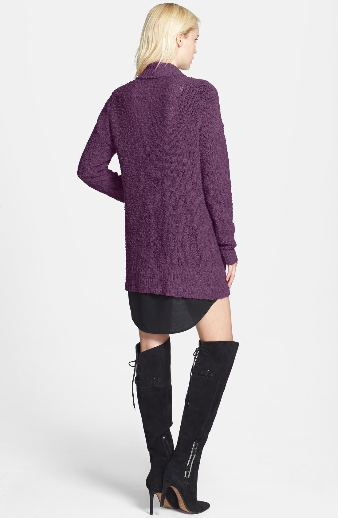 ,                             Textured Open Front Cardigan,                             Alternate thumbnail 16, color,                             501