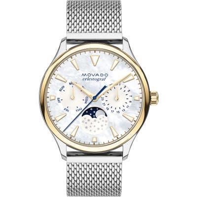 Movado Heritage Multifunction Mesh Band Watch,