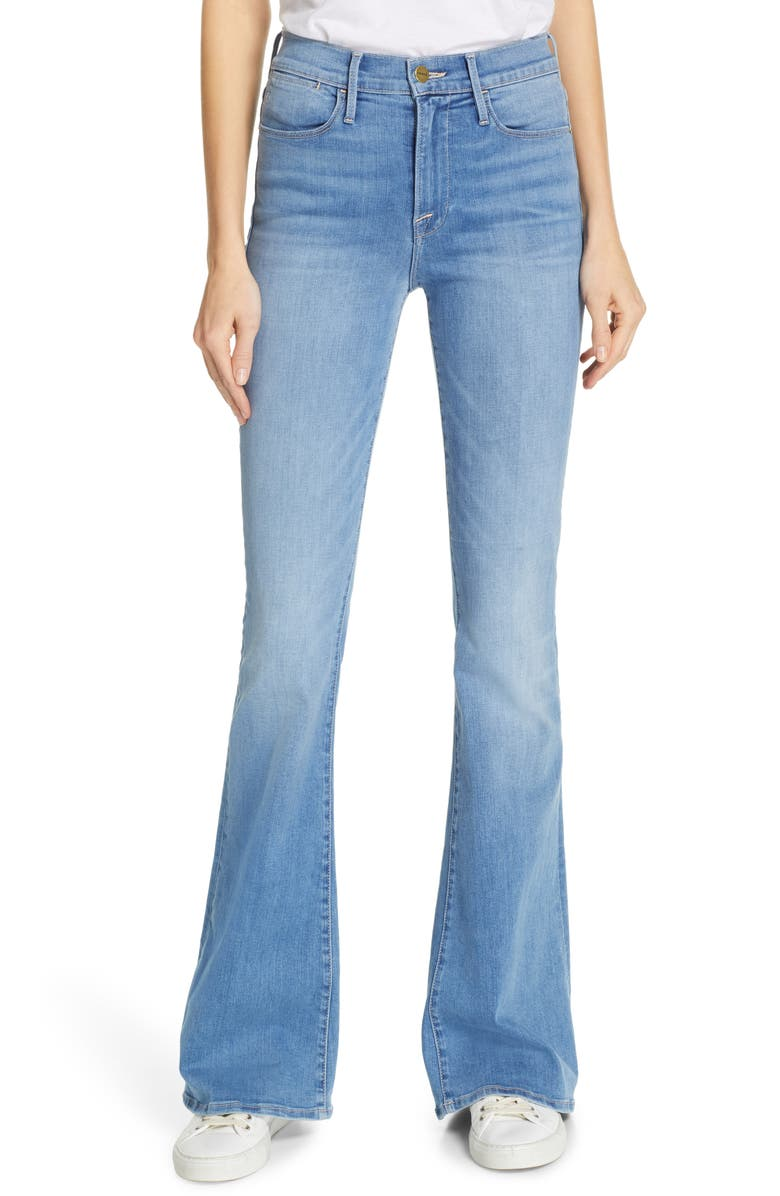 FRAME Le High Flare Jeans, Main, color, 420