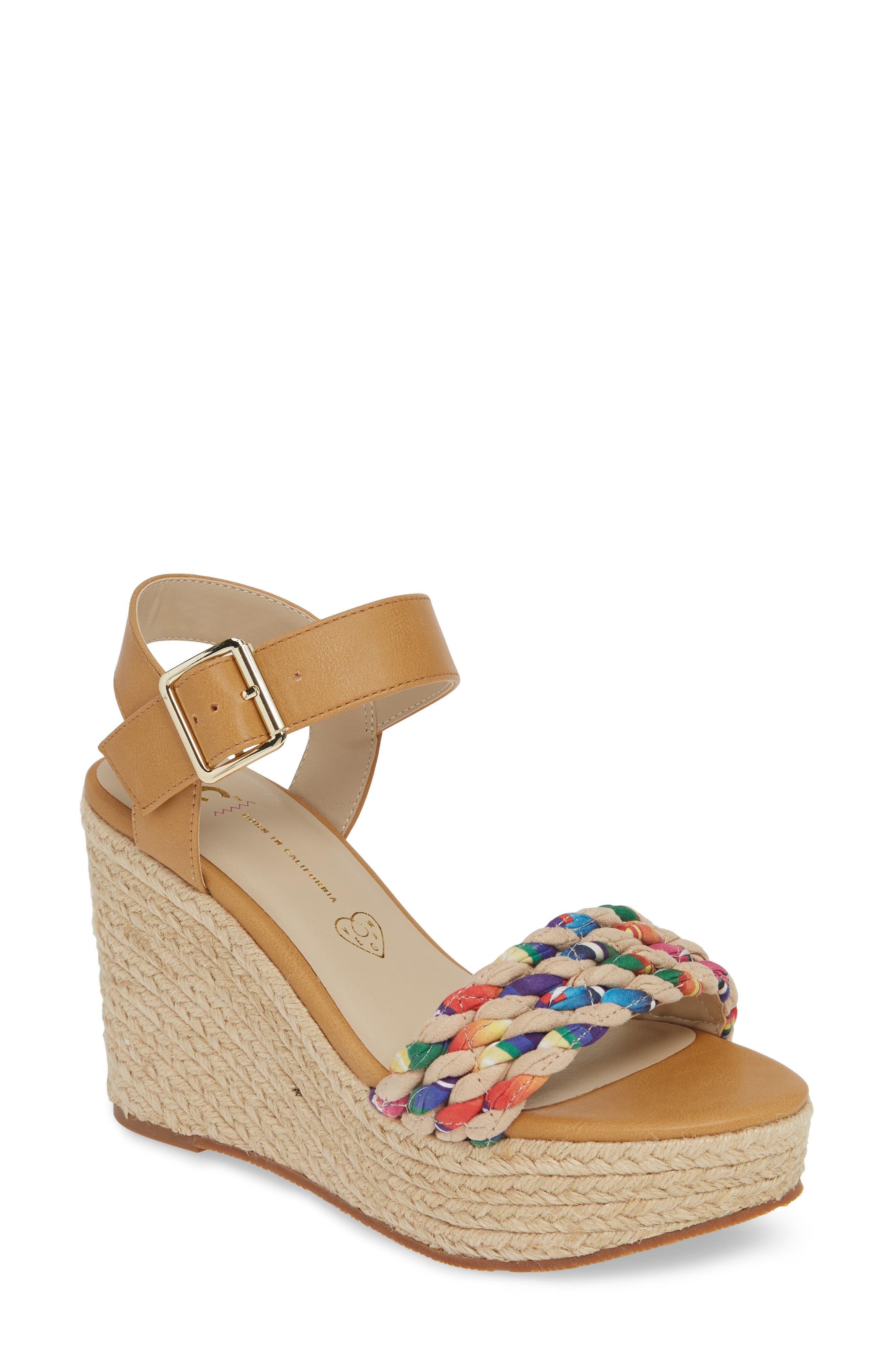 2629a9c0cf17 Bc Footwear Dew Drops Vegan Espadrille Wedge Sandal- Brown