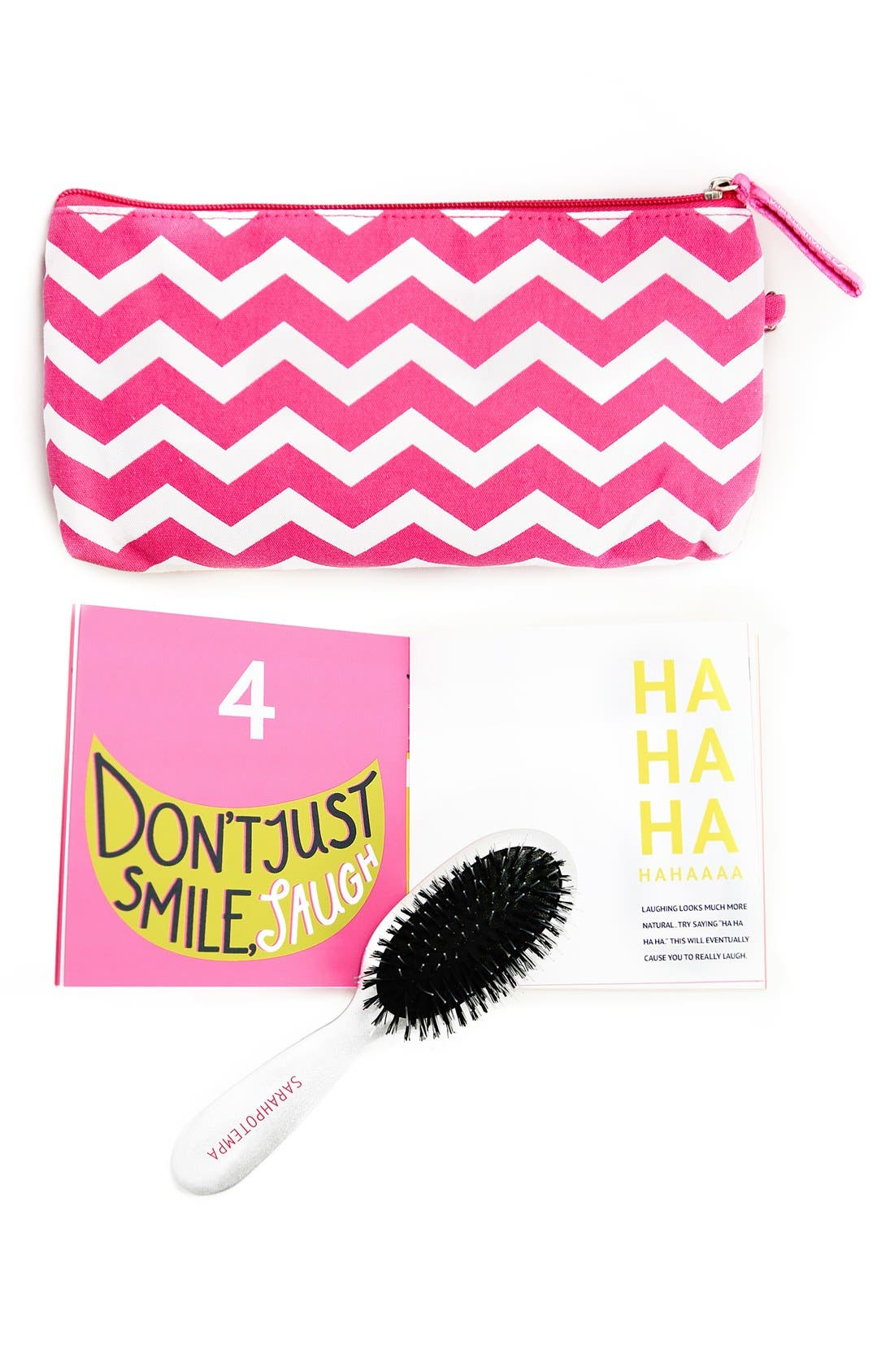 ,                             SARAHPOTEMPA 'Help Your Selfie' Mini OnSet Styling Brush,                             Main thumbnail 1, color,                             NO COLOR