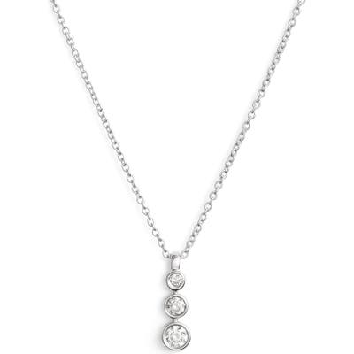 Dana Rebecca Designs Triple Bezel Diamond Pendant Necklace