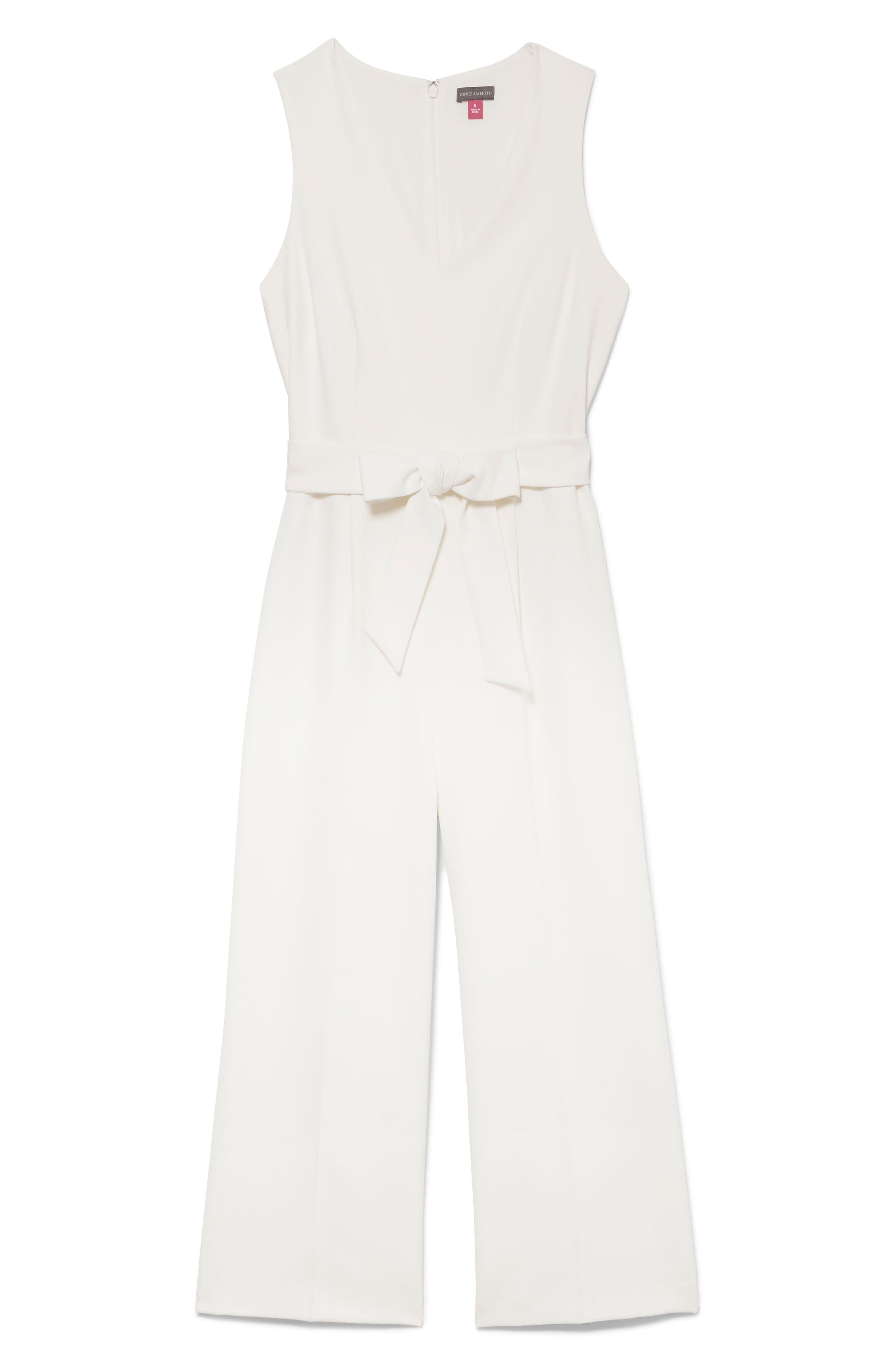 ,                             Belted Crop Jumpsuit,                             Alternate thumbnail 3, color,                             NEW IVORY