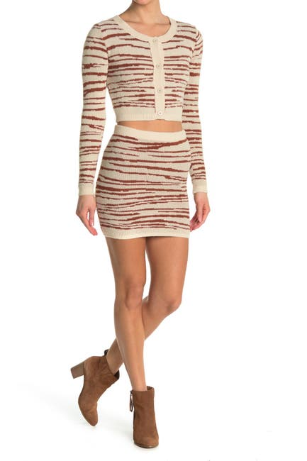 Image of 4SI3NNA Abigail Knit Bodycon Skirt