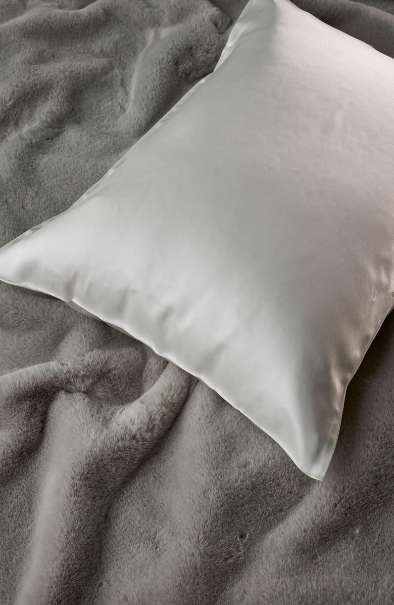 THE WHITE COMPANY Silk Pillowcase, Main, color, CHALK