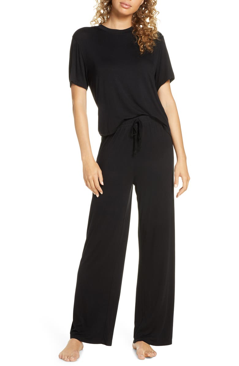 HONEYDEW INTIMATES All American Pajamas, Main, color, BLACK