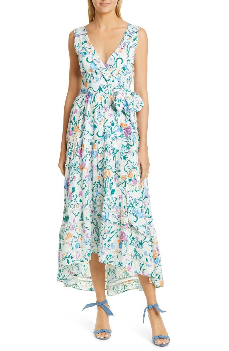 Tanya Taylor Neves Sleeveless High Low Maxi Dress Regular Plus Size