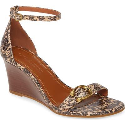 Coach Odetta Wedge Ankle Strap Sandal