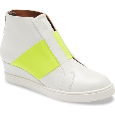 Linea Paolo Amber Wedge Sneaker, White