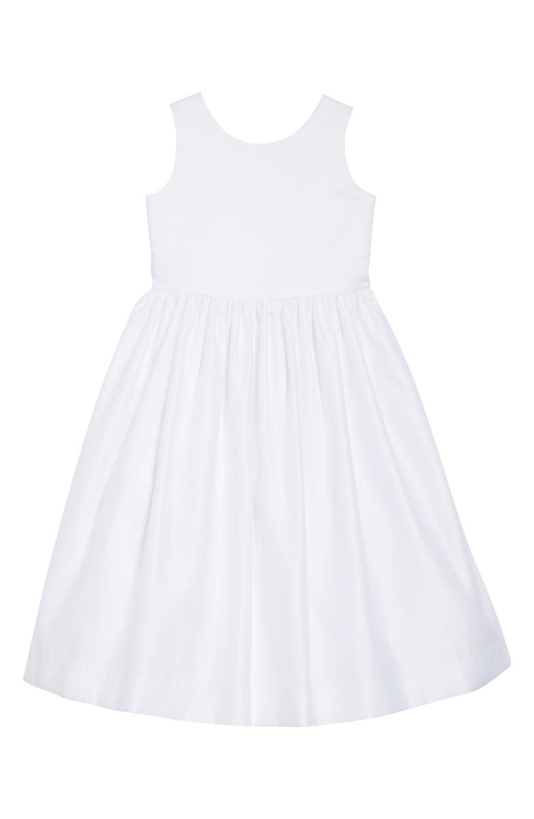 US ANGELS Sleeveless Fit & Flare Dress, Main, color, WHITE