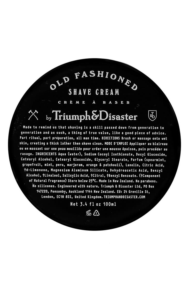 TRIUMPH & DISASTER Old Fashioned Shave Cream Jar, Main, color, 000
