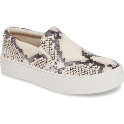 Steve Madden Gills Platform Slip-On Sneaker, Beige