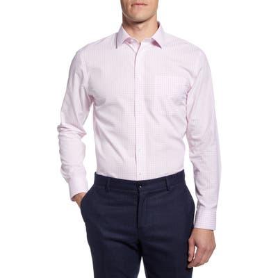 Nordstrom Shop Smartcare(TM) Trim Fit Check Dress Shirt - Pink
