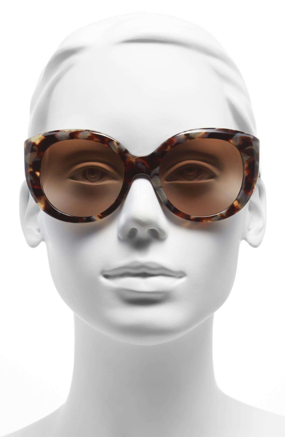 ,                             54mm Cat Eye Sunglasses,                             Alternate thumbnail 4, color,                             250