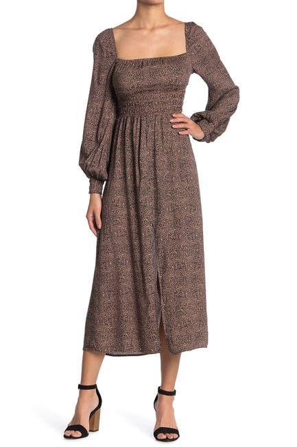 Image of AFRM Miro Leopard Print Long Sleeve Dress
