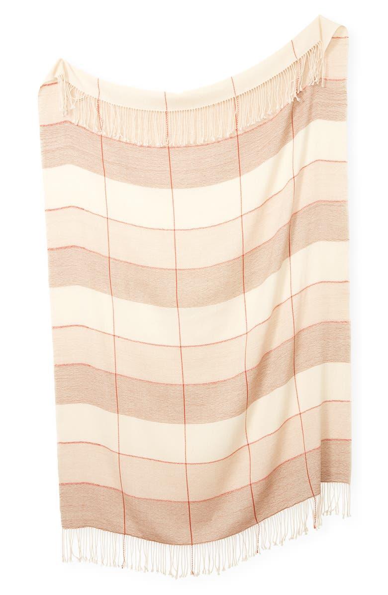 MINNA Grid Alpaca Throw Blanket, Main, color, 250