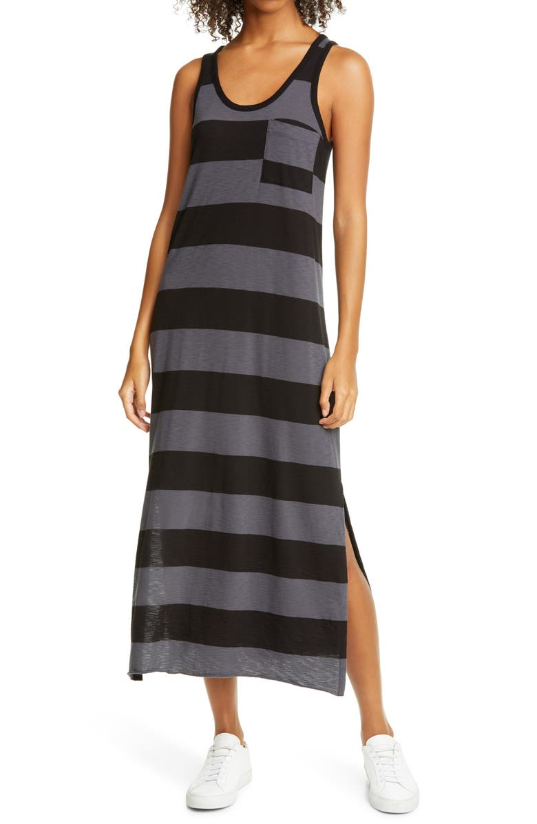 ATM ANTHONY THOMAS MELILLO ATM Anthony Thomal Mellilo Stripe Tank Dress, Main, color, ASPHALT/ BLACK COMBO