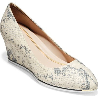 Cole Haan Grand Ambition Wedge Pump, White