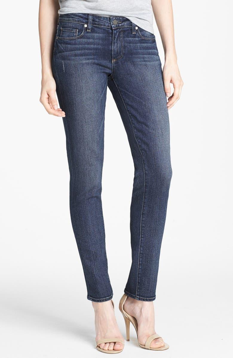 PAIGE 'Skyline' Skinny Ankle Peg Jeans, Main, color, 400