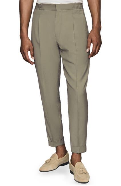 Image of REISS Samurai Wool Blend Drawstring Trousers
