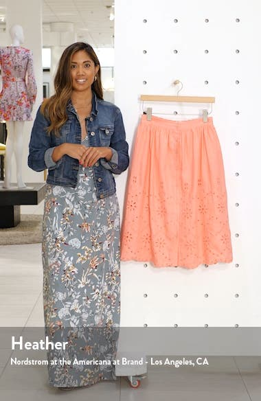 Eyelet Linen A-Line Skirt, sales video thumbnail