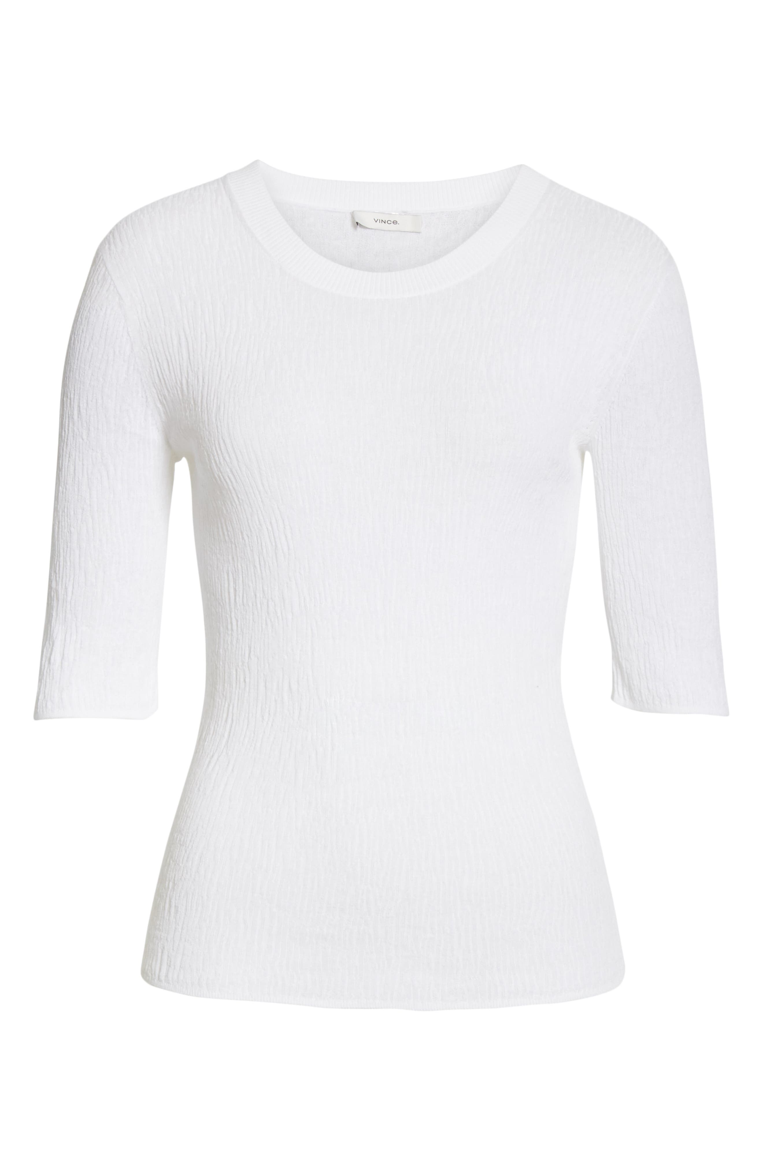 ,                             Broomstick Pleat Cotton Top,                             Alternate thumbnail 6, color,                             OPTIC WHITE