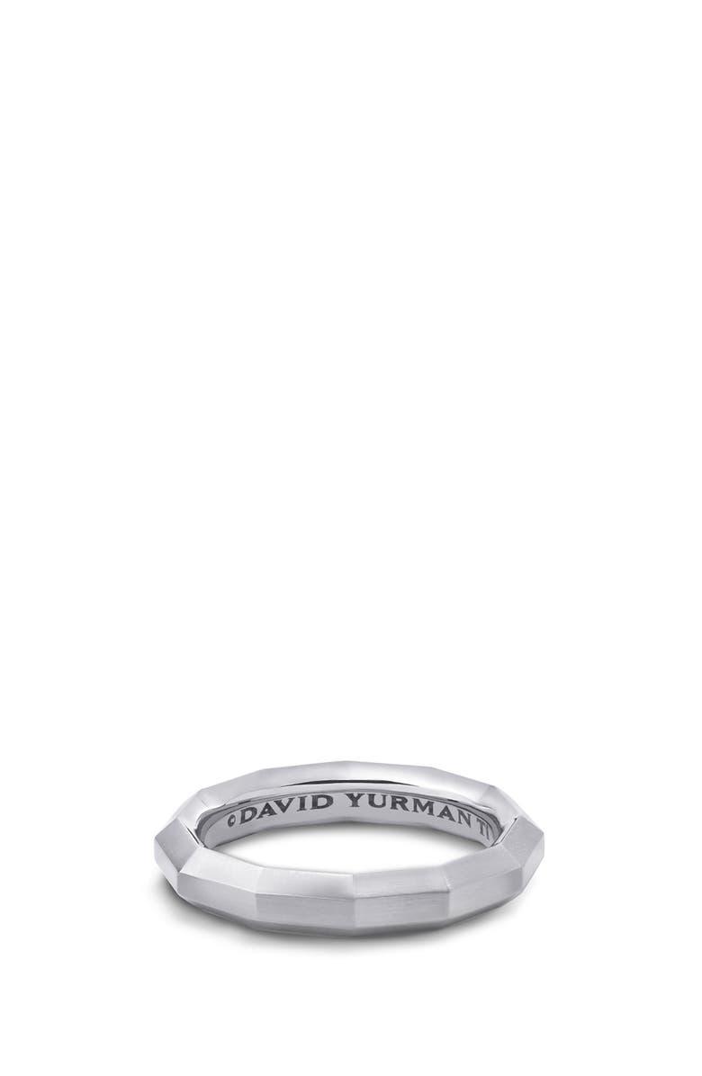 DAVID YURMAN Faceted Band Ring in Titanium, Main, color, TITANIUM