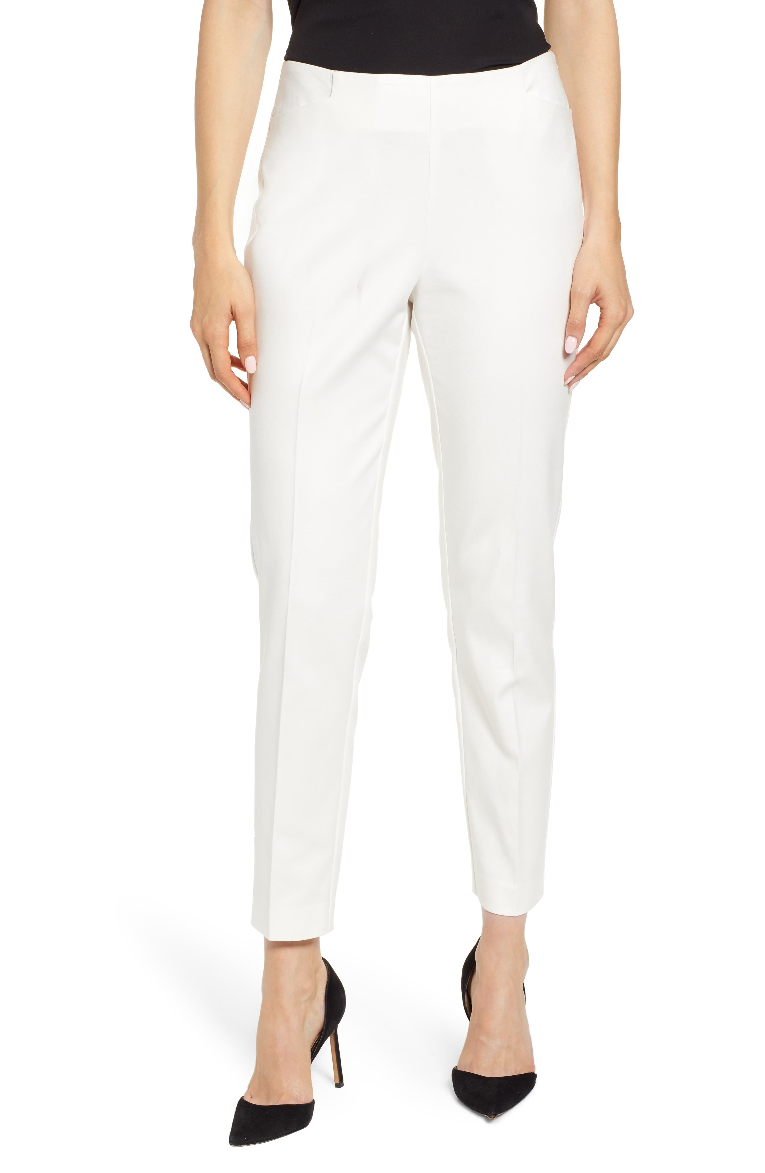 Image of Vince Camuto Side Zip Stretch Cotton Blend Pants