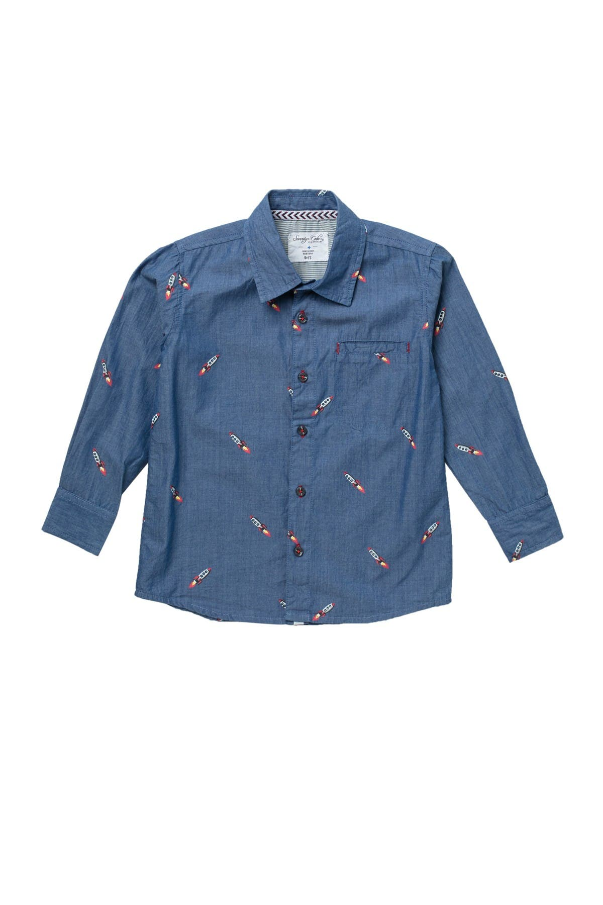 Image of Sovereign Code Piccolo Rocket Embroidered Button Up Shirt