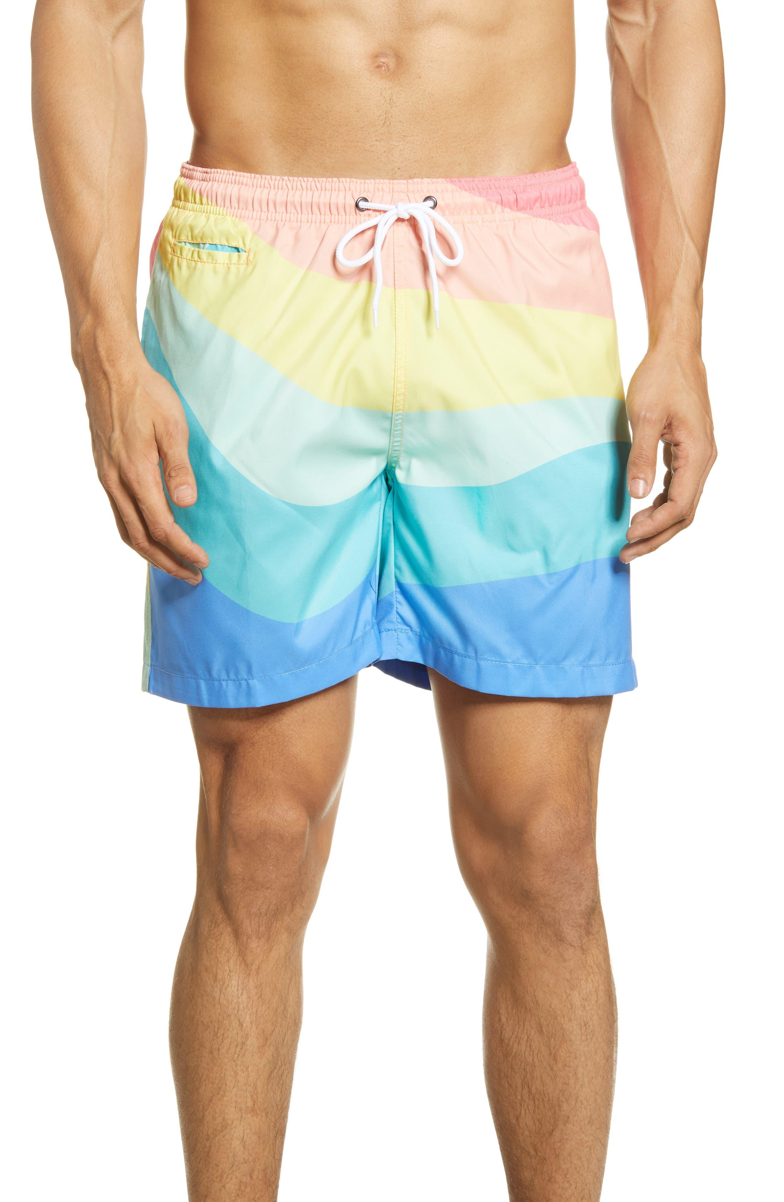Vintage Men's Swimsuits – 1930s, 1940s, 1950s History Mens Trunks Surf  Swim Co. Sano Swim Trunks Size X-Large - Coral $50.00 AT vintagedancer.com