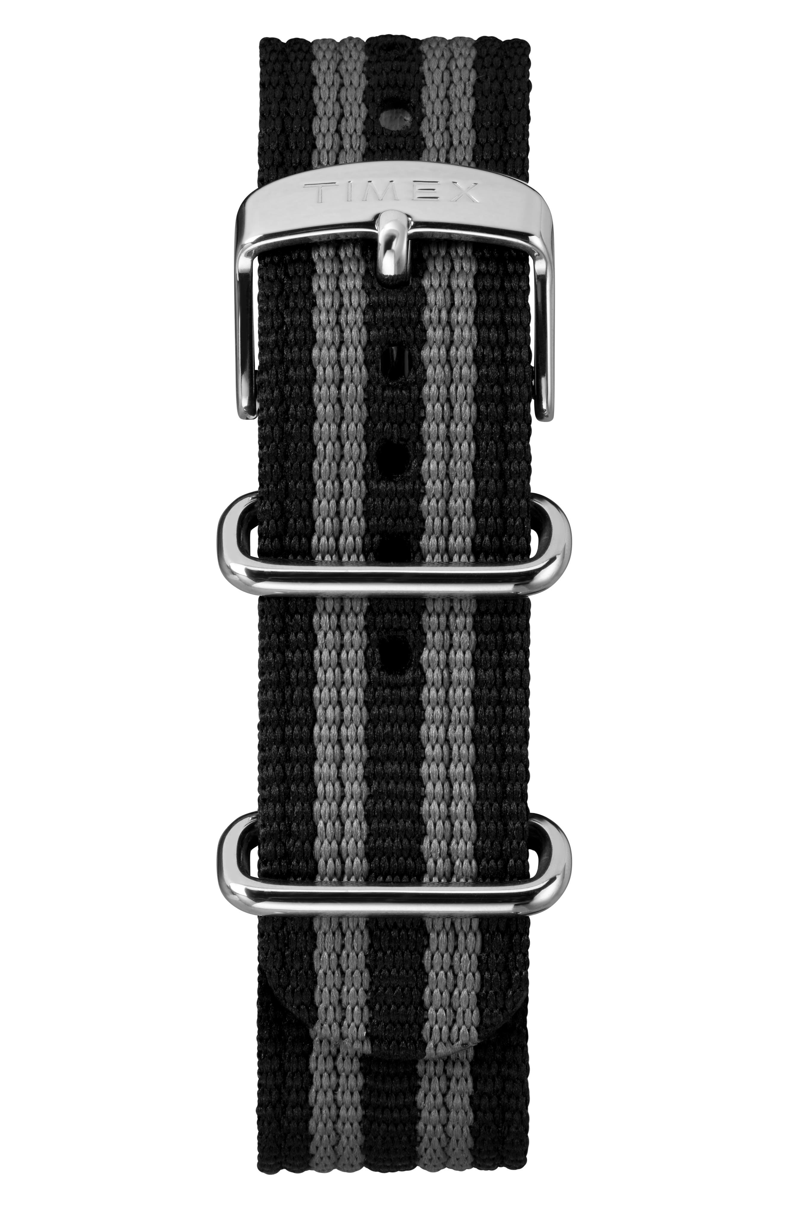 ,                             The Maritime NATO Strap Watch, 41mm,                             Alternate thumbnail 3, color,                             WHITE/ BLACK/ GREY