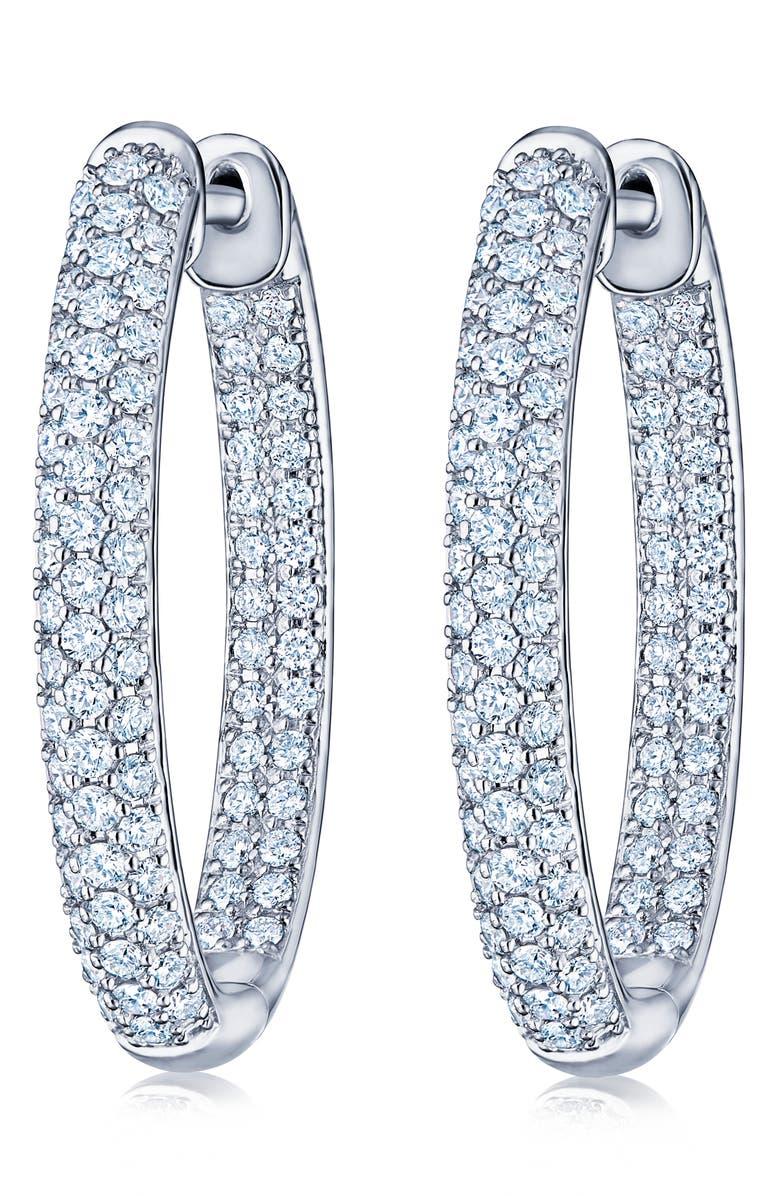 KWIAT Moonlight Pavé Diamond Hoop Earrings, Main, color, 711