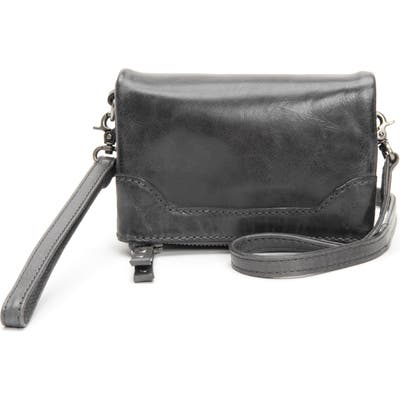 Frye Melissa Stadium Leather Convertible Crossbody Bag - Grey