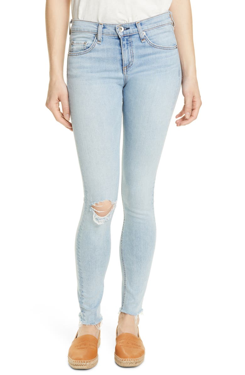 RAG & BONE Ripped Skinny Jeans, Main, color, FERRY WHOLE