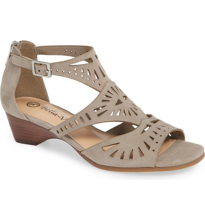 BELLA VITA Penny Sandal, Main, color, STONE KID SUEDE LEATHER