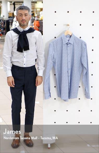 Slim Fit Floral Print Dress Shirt, sales video thumbnail