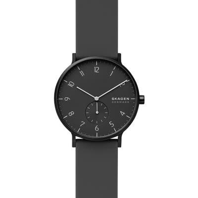 Skagen Aaren Kul?r Rubber Strap Watch, 41Mm