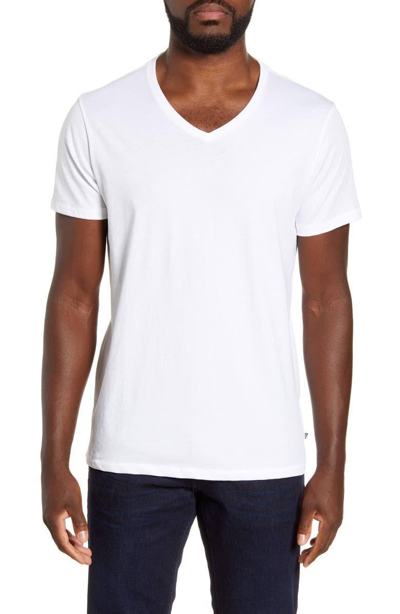BONOBOS Yarn Spun V-Neck T-Shirt, Main, color, WHITE