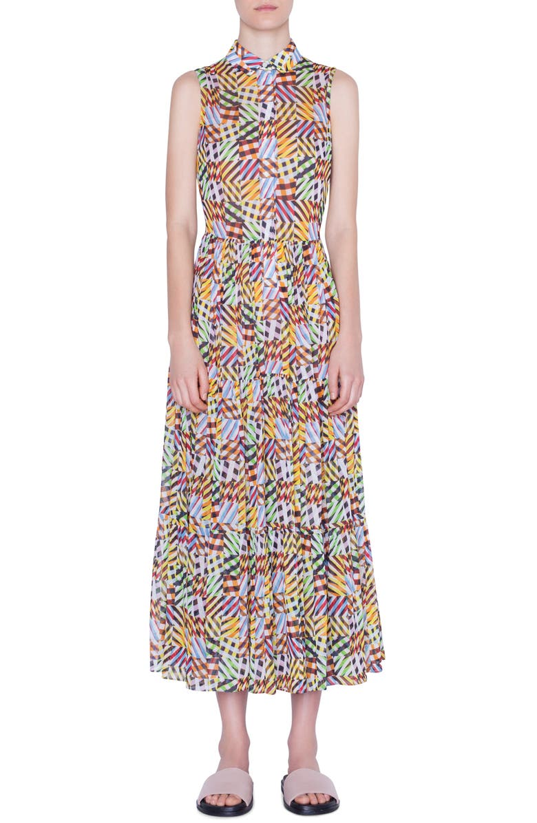 AKRIS PUNTO Patchwork Print Sleeveless Maxi Dress, Main, color, PATCHWORK MULTI